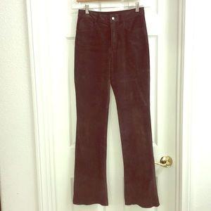 Express Dark Brown Suede Pants